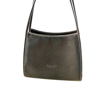 Gucci-like Black Leather Structured Purse